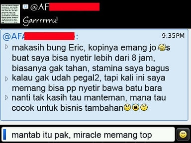 testimoni miracle coffee